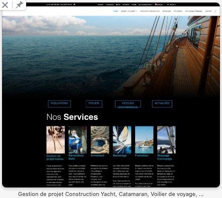 Yacht Project Creation de Site Web Wordpress